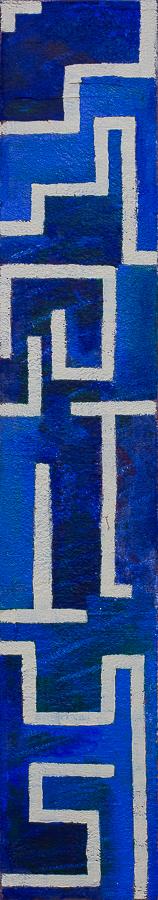 """""""Irrläufer""""          Acryl     60 x 10 cm"""