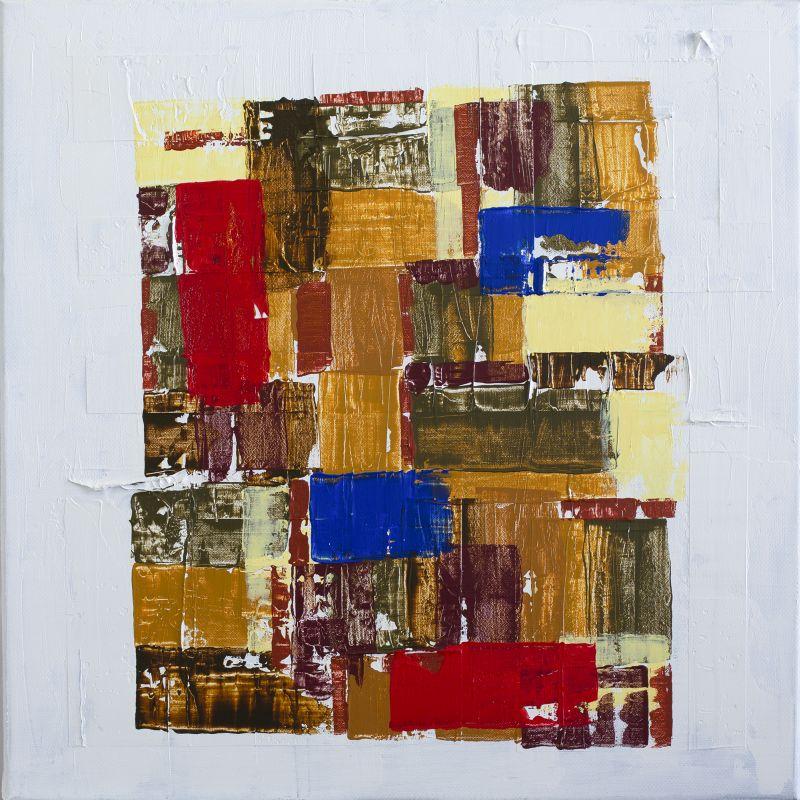"""""""Patchwork""""          Acryl + Mixed Media     50 x 50 cm"""