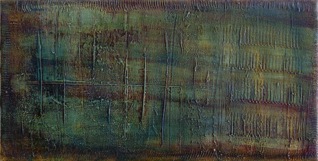 """"""" The Counter""""          Öl + Acryl + Mixed Media     15 x 30 cm"""