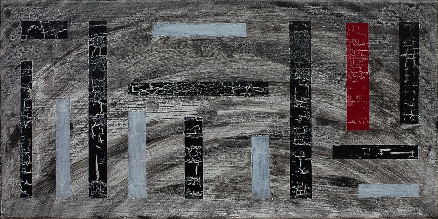 """La Différence""          Acryl     30 x 60 cm"