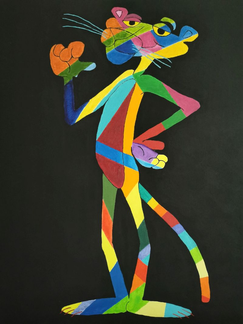"""""""Paul""""          Acryl     60 x 50 cm"""