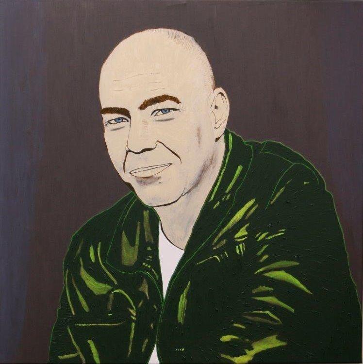 """Selbstportrait""          Acryl     80 x 80 cm"