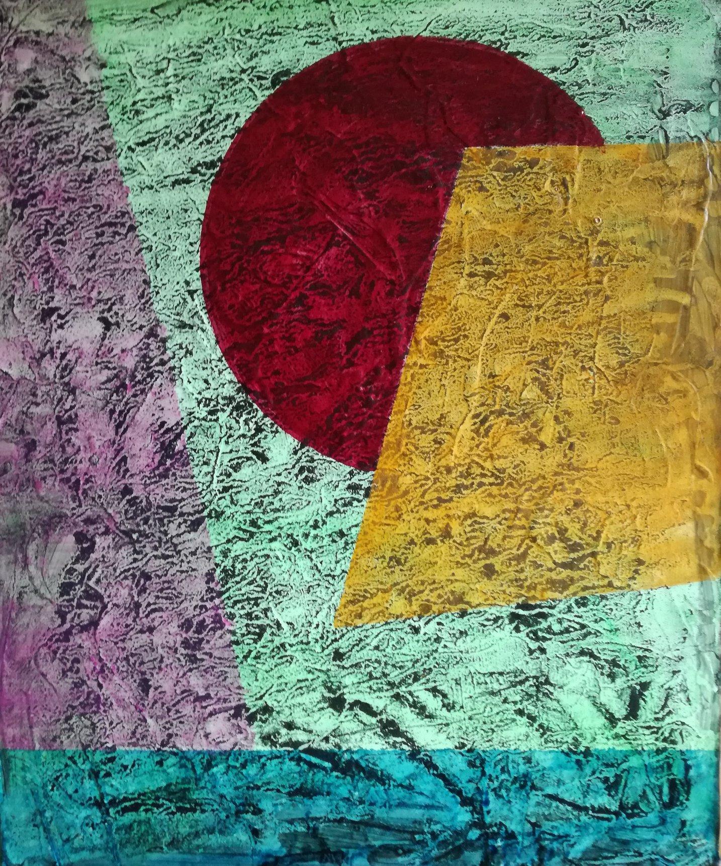 """Stockholm""          Acryl + Pigmente     46 x 37 cm"