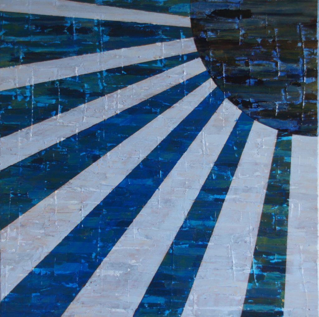 """""""Die blau Sonne""""          Öl     60 x 60 cm"""
