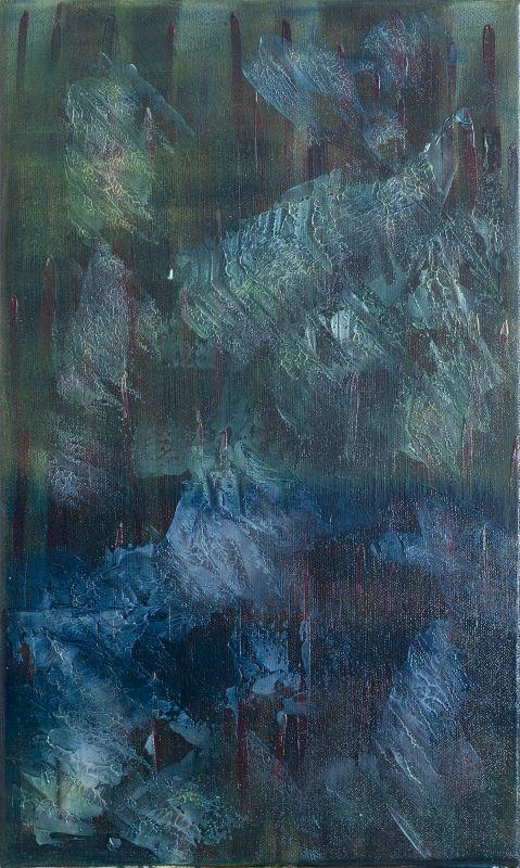 """""""Waterworld""""          Öl + Acryl + Mixed Media     30 x 50 cm"""