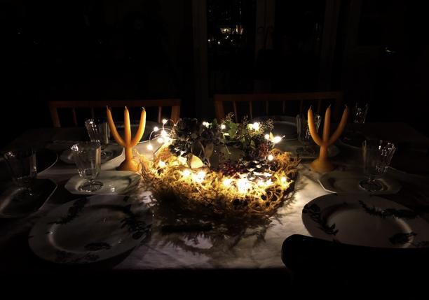 クリスマスキャンドルテーブル