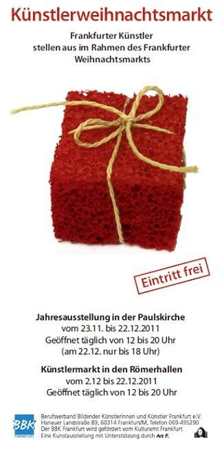 Jahresausstellung in der Paulskirche - BBK