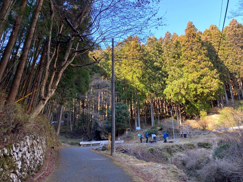 正丸峠と長岩(亀岩)分岐