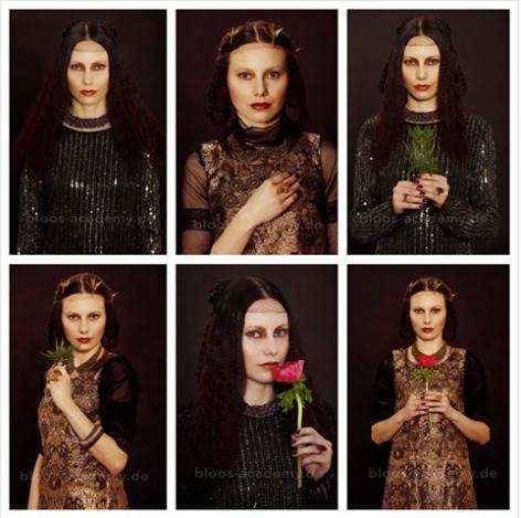 Hair & Make-up / Schülerin: Theresa R. Model: Sarah, Prod.: bloos Make-up & Hair Academy, Foto: Markus Thiel