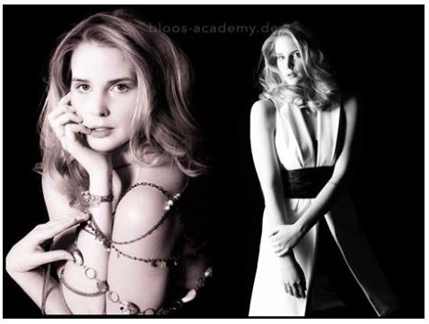 Haare & Make-up / Schülerin: Evelyn L. Model: Julia R. c/o S Models Model Management Styling: Nickangel Foto: Markus Thiel Produktion: bloos Make-up & Hair Academy