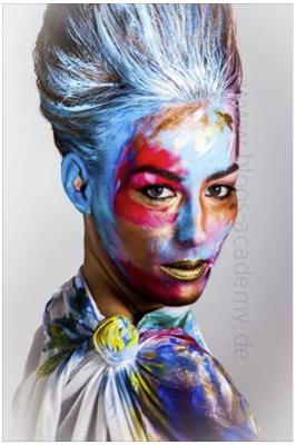 paint - Hair & Make-up Schülerin: Sarah Sch.  Foto: Markus Thiel
