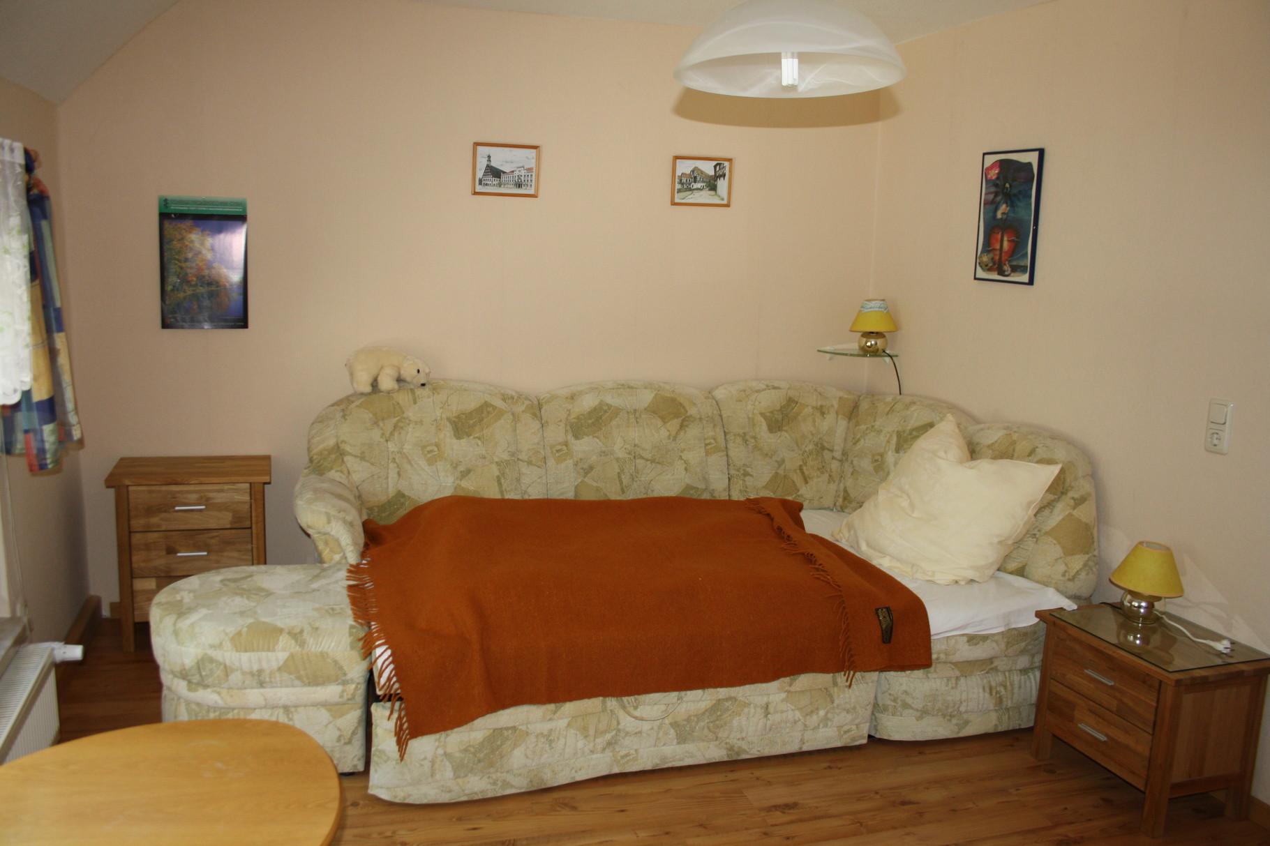 2. separates Schlafzimmer mit Schlafcouch