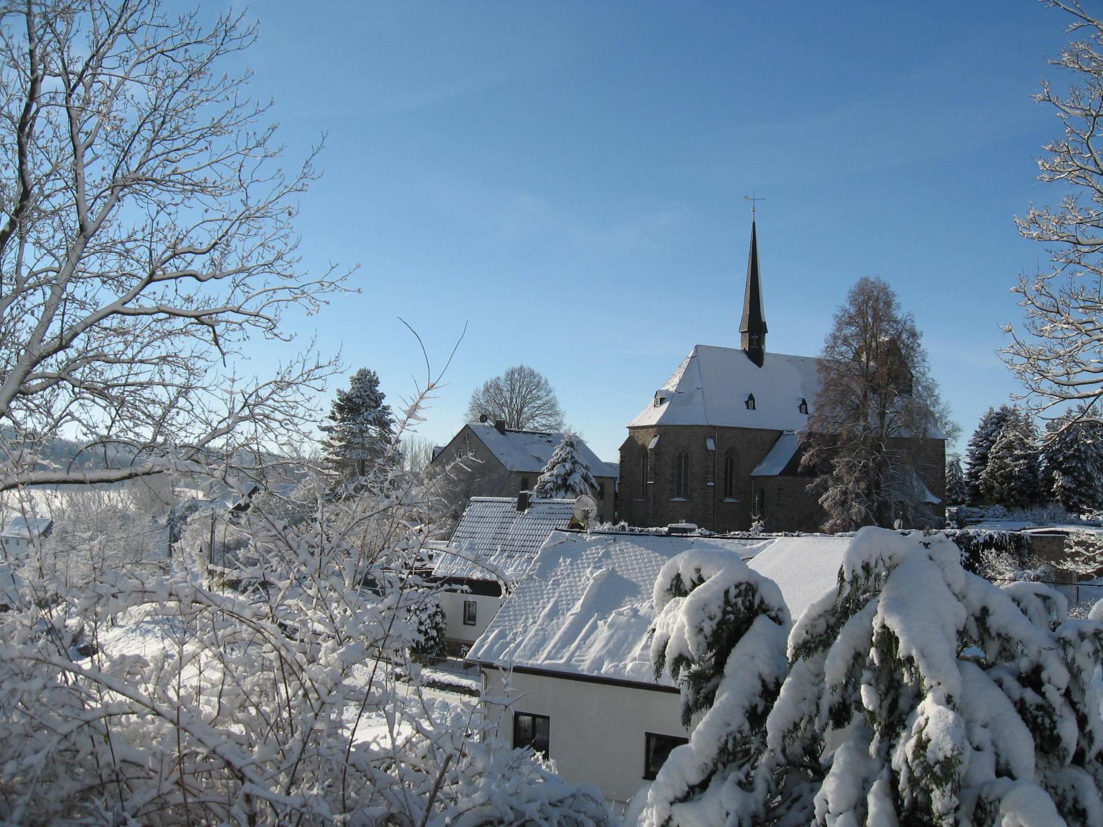 Blick aus der Ferienwohnung im Winter