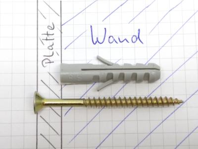 Welche Schraube für welchen Dübel, Schlaubenlänge für Dübel, Schraube und Dübel, Schraubenlänge und Dübel, Schraube länger als Dübel
