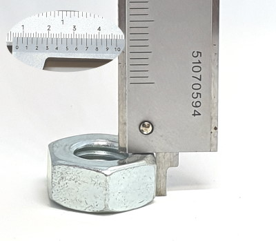 Caliper gauge depth measurement