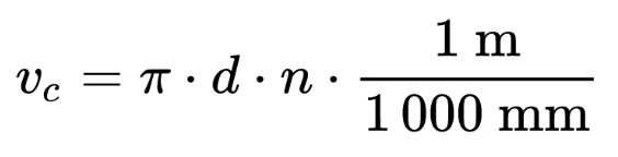 Schnittgeschwindigkeit Formel, Schnittgeschwindigkeit Bohren, Schnittgeschwindigkeit Drehen, Schnittgeschwindigkeit Fräsen