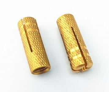 Dowel with thread, brass Expansion dowel