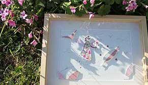 Vignette-lien vers l'article présentant le processus créatif lorsqu'une idée vient au jardin de l'illustratrice Cloé Perrotin