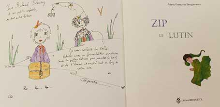 Dédicace 3 du livre Zip le lutin à Dompierre-sur-Besbre en 2016