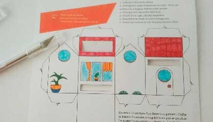 Découpage phase 1 de la Box façon Tiny house d'après le DIY papercraft pas à pas de l'illustratrice Cloé Perrotin
