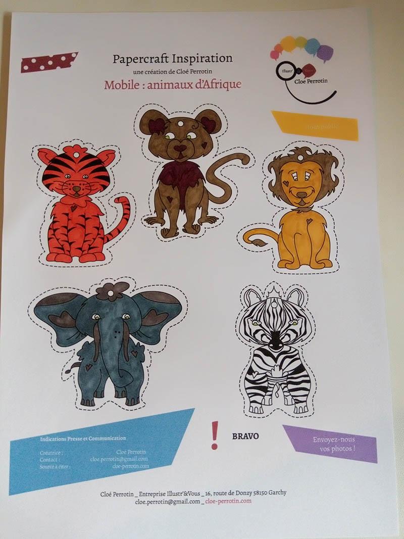 Colorier les animaux d'Afrique pour le mobile