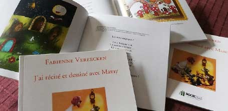 """Illustration de Cloé Perrotin sur l'histoire """"Les Mots Magiques"""" extraite du livre de Fany Vereecken aux Éditions Bookelis"""