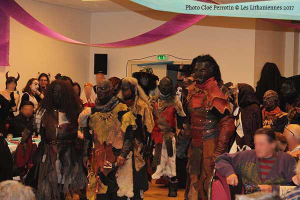 Les Orcs des Dreams Keepers au banquet des Lithaniennes 2017