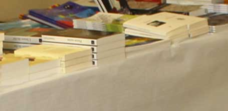 Le livre Enfants des rues chez Yucca Editions sur le stand de livres de la librairie Moulins aux lettres