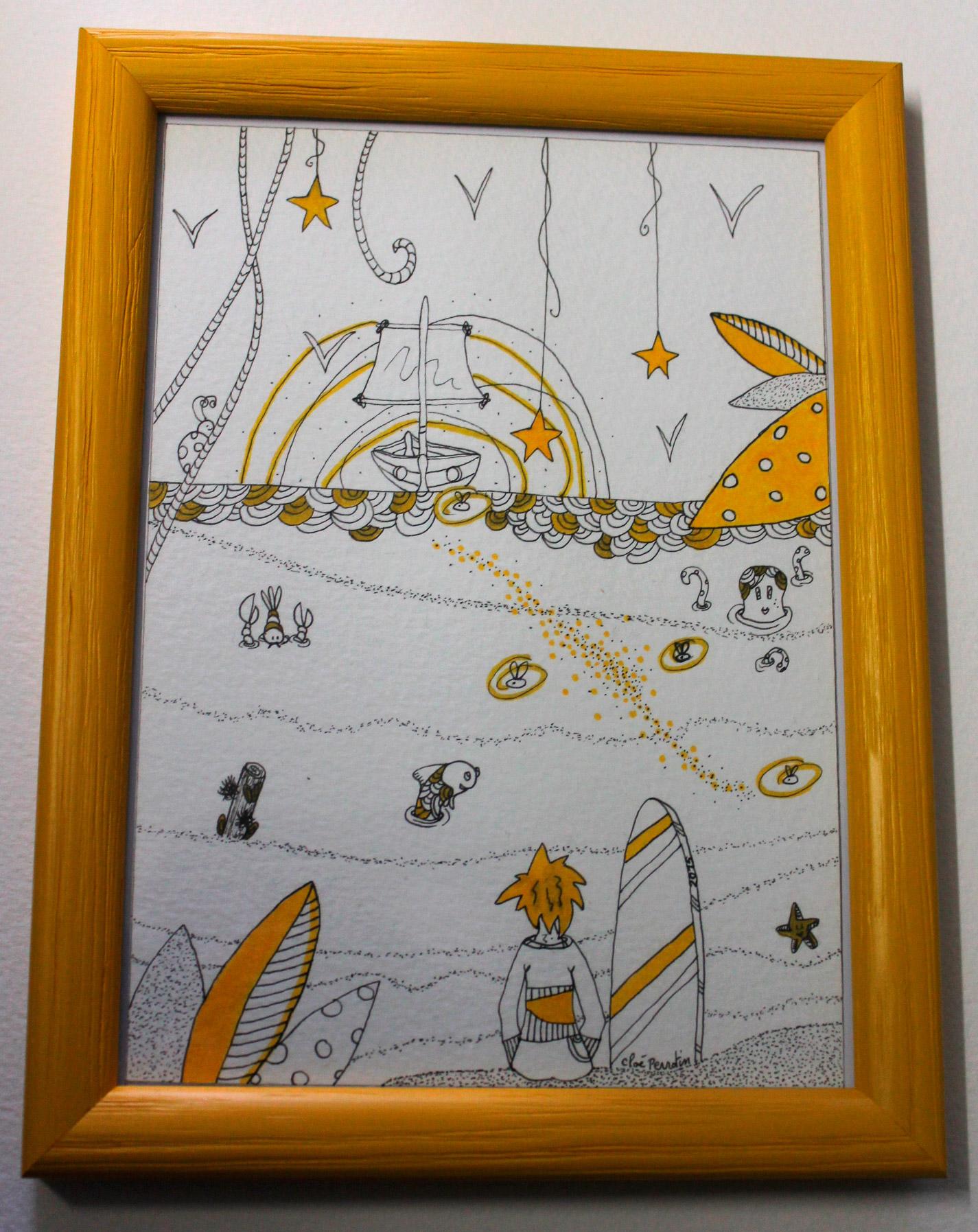 """Illustration pour l'association """"Rêves d'Enfants"""" par Cloé Perrotin"""
