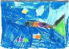 Dessin de poissons de l'Océan au Salon du Livre d'Allevard 2016