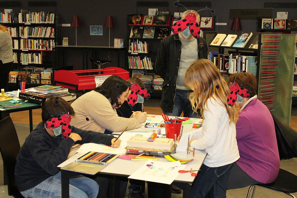 Atelier de l'illustratrice Cloé Perrotin en médiathèque