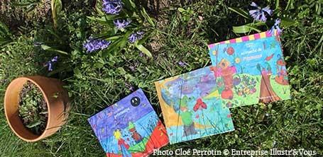 La trilogie fantastique jeunesse de Zip le lutin et ses amis les fées, les elfes et les lutins au jardin à la fête du printemps à Garchy