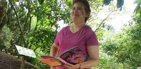 """Christine A.D., présidente de l'association de promotion de la lecture """"La Muse des Gones"""""""