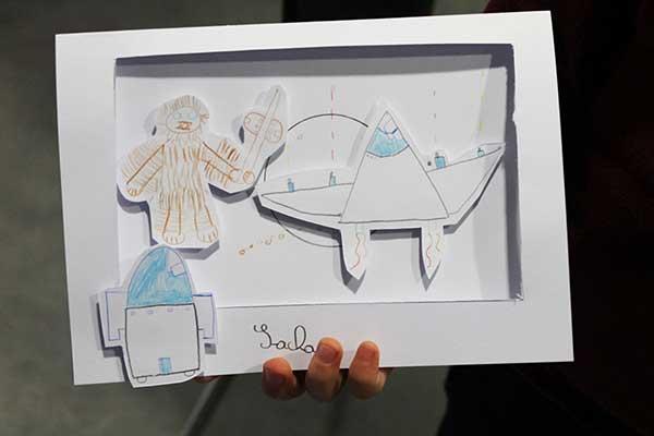 La carte en relief Star Wars façon théâtre de Sacha d'après le DIY papercraft de Cloé Perrotin