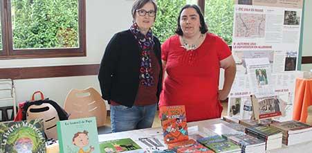 L'illustratrice Cloé Perrotin et l'auteur Sylvie Arnoux au Salon du Livre de Frans 2016