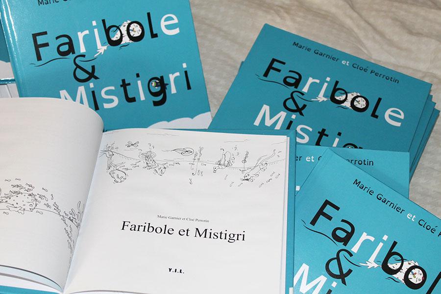 Le livre Faribole et Mistigri pour petits et grands avec deux surprises créatives
