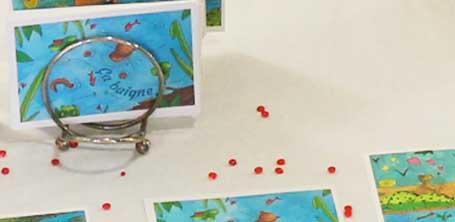 Les cartes postales de Cloé Perrotin pour le collectif de créateurs Moka la loutre en 2016