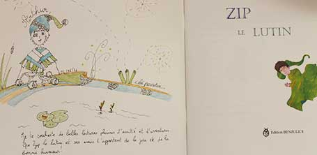 Dédicace 1 du livre Zip le lutin à Dompierre-sur-Besbre en 2016