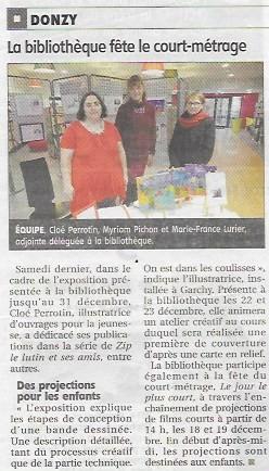 Le journal du Centre (JDC) présente l'exposition et la vente dédicace de Cloé Perrotin,