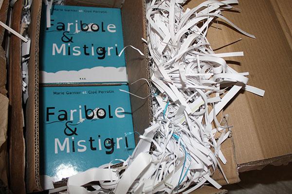 Des livres de Faribole et Mistigri bien emballés et protégés !