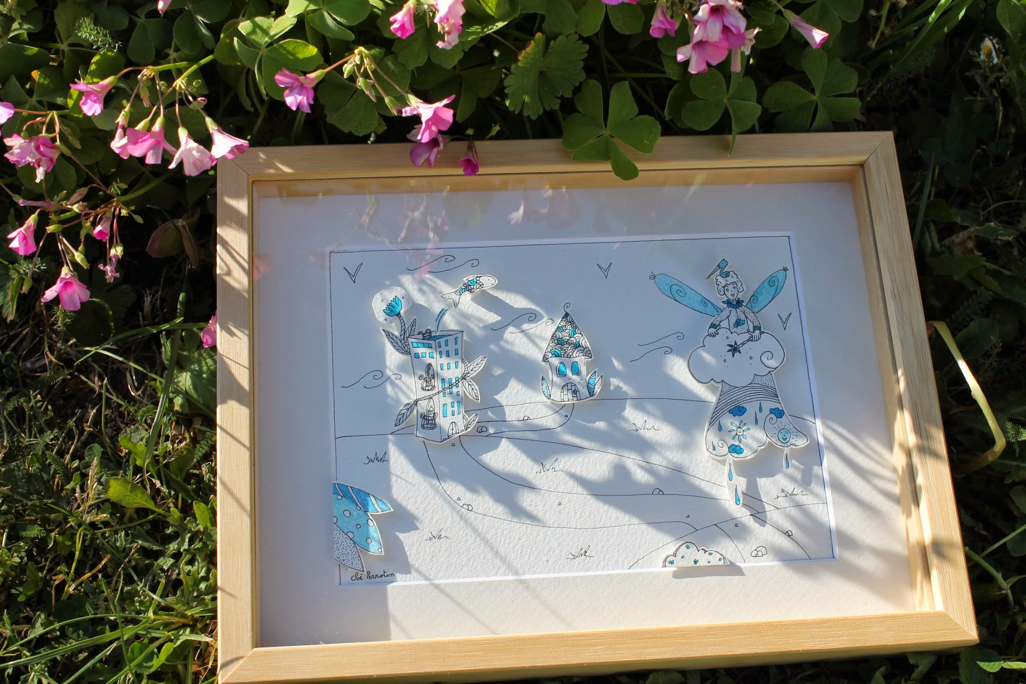 Illustration résultat du DIY papercraft pas à pas pour une illustration en relief façon théâtre