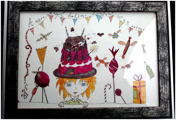 Illustration cadeau pour une enfant