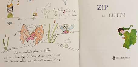 Dédicace 2 du livre Zip le lutin à Dompierre-sur-Besbre en 2016