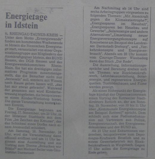 Energietage in Idstein