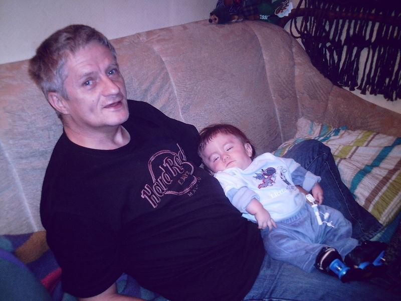 Fynny und sein Papa.