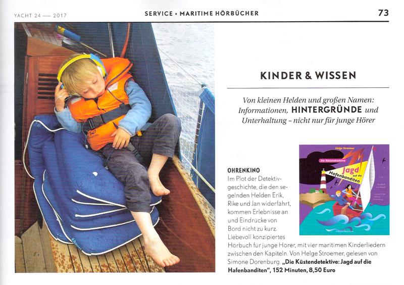 Die Küstendetektive, Kinderhörbuch, Tipp in der Yacht