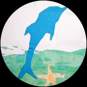 Gemalter Delfin - Helge Stroemer - Medienproduktion