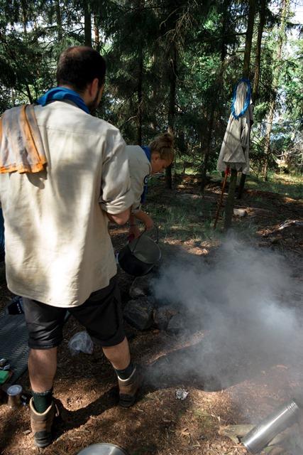 Pfadfinder Sommerfahrt, Feuer löschen, Kaffee kochen