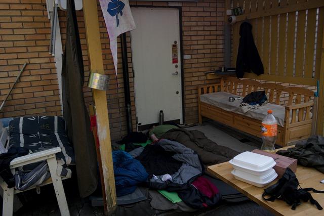 Ungewöhnliches Schlaflager der Pfadfinder