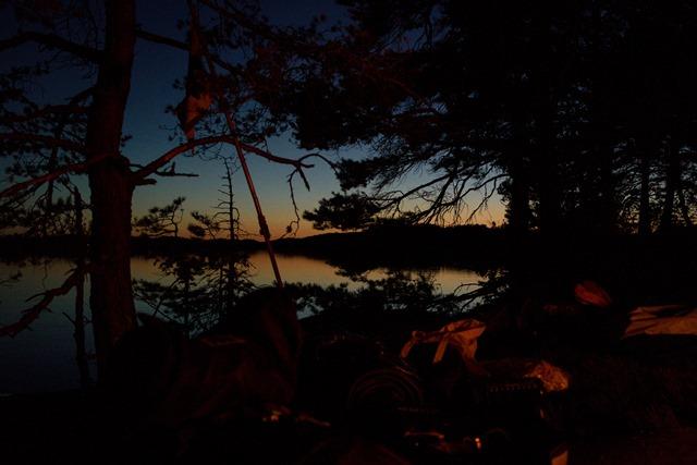 Lagerplatz Insel, See Baven Schweden